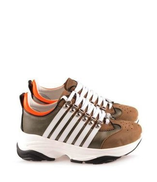 Dsquared2 Dsquared2 : Sneaker bumpy-military/white