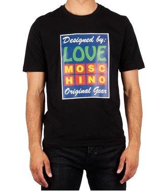 Love moschino Love Moschino : T-shirt big patch Black