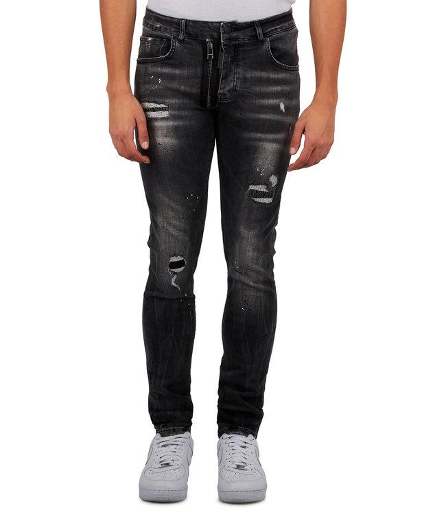 Mybrand Mybrand : Jeans base zipper-Grey
