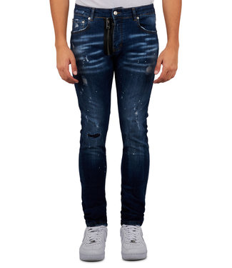 Mybrand Mybrand : Jeans base zipper-Blue