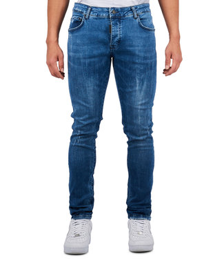 Mybrand Mybrand : Jeans base jogging-Blue