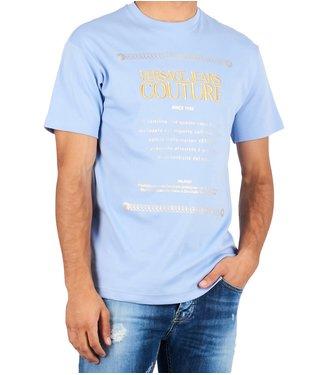 Versace Jeans couture Versace jeans : T-shirt reg mc 7 mix L.Blue