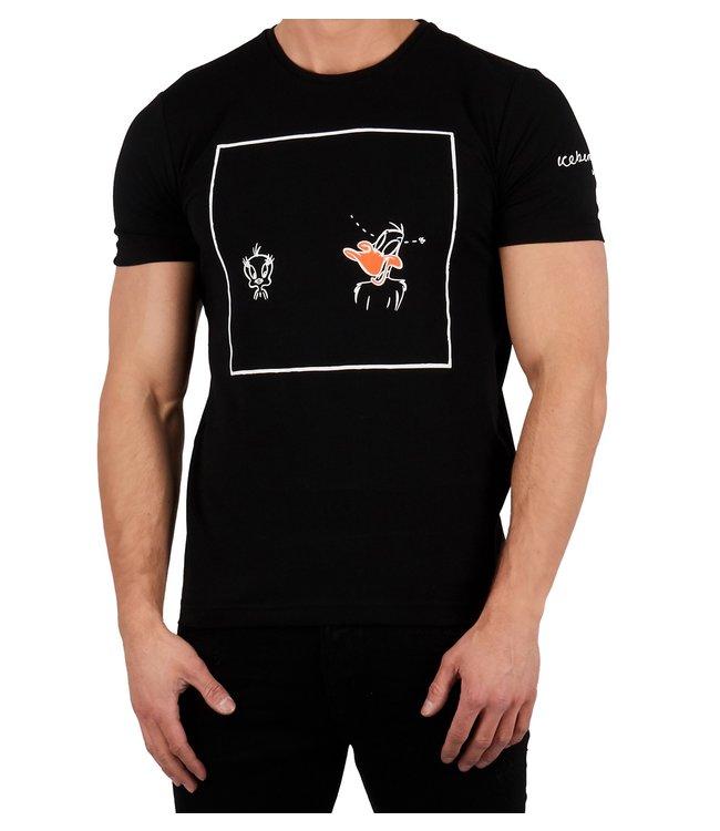 ICEBERG Iceberg : T-shirt  Daffy / Tweety Black