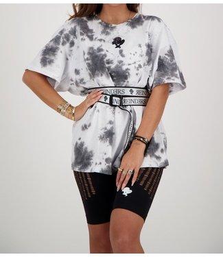 Reinders Reinders :T-shirt Tie Dye-White Black Onesize