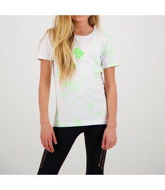 Reinders Reinders : Kids T-shirt Tie Dye-White Neon Green