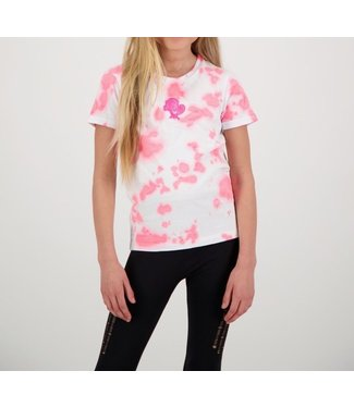 Reinders Reinders : Kids T-shirt Tie Dye-White Pink Neon