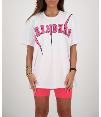 Reinders Reinders :T-shirt Bolt-White Pink Neon Onesize