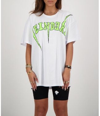 Reinders Reinders :T-shirt Bolt-White Yellow