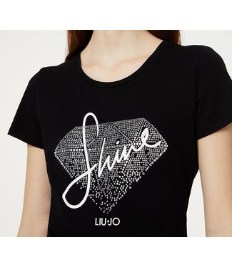 LiuJo LiuJo : T-shirt Shine-WA0107-Black