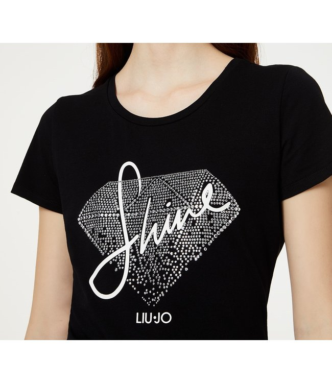 LiuJo LiuJo : T-shirt Shine-WA0107-Black