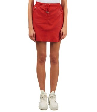 Ibana Ibana : Skirt leather Mesa-Red
