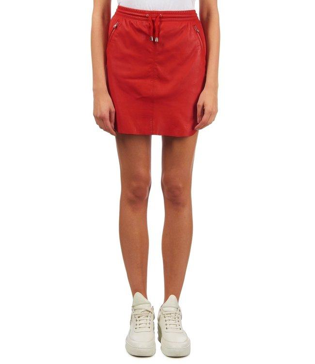Ibana Ibana : Skirt leather Mesa-Red