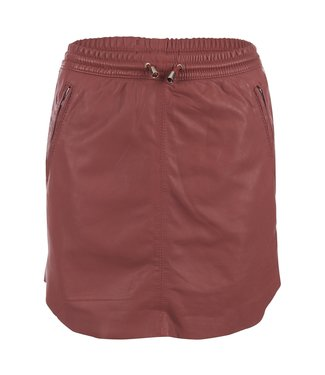 Ibana Ibana : Skirt leather Mesa-Rose