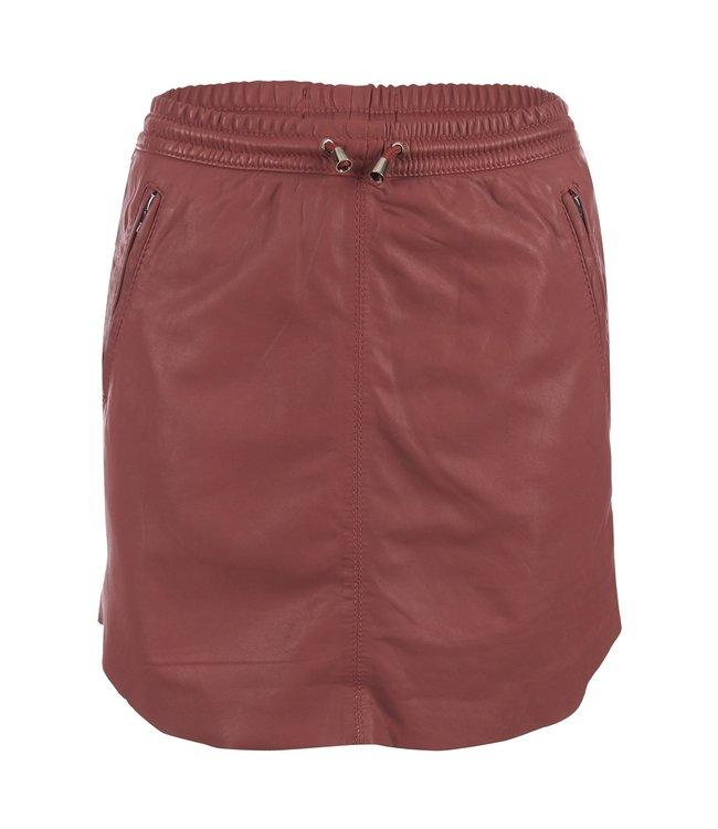 Ibana Ibana : Skirt leather Mesa-Rose