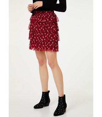 LiuJo LiuJo : Skirt print mesh-WA0007-Cherry