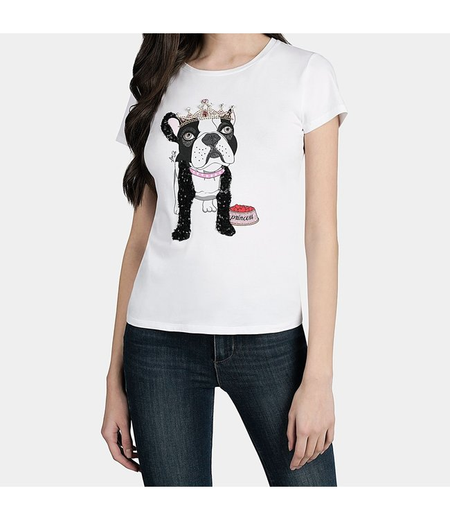 LiuJo LiuJo : T-shirt Dog -WA0373-White