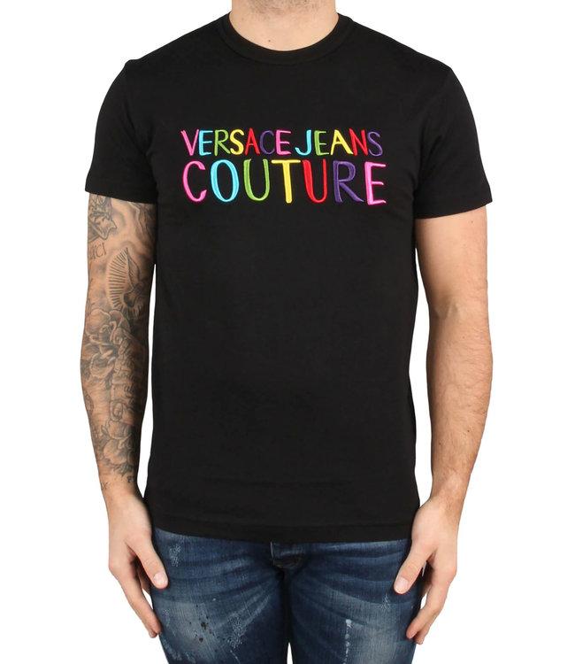 Versace Jeans couture Versace jeans : T-shirt colour logo-Black
