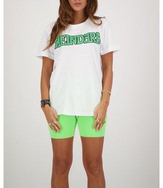 Reinders Reinders : T-shirt Wording-White Neon