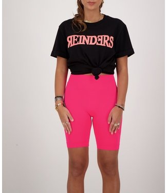 Reinders Reinders : T-shirt Wording-Black Pink