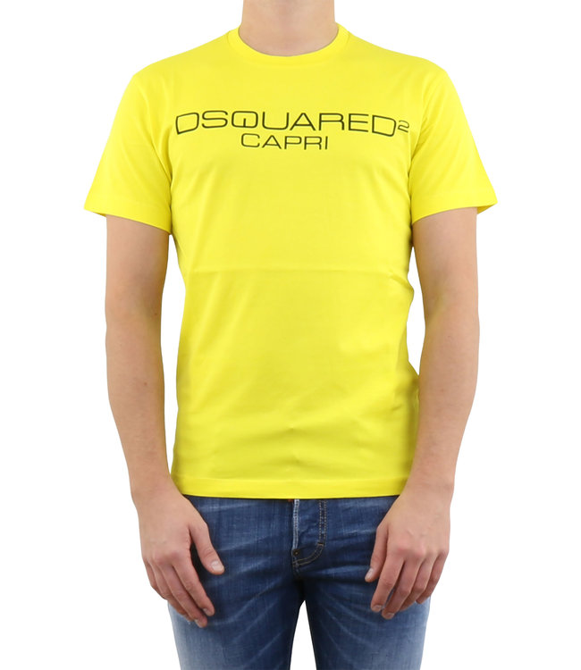 Dsquared2 Dsquared2 : T-shirt Milano-Yellow