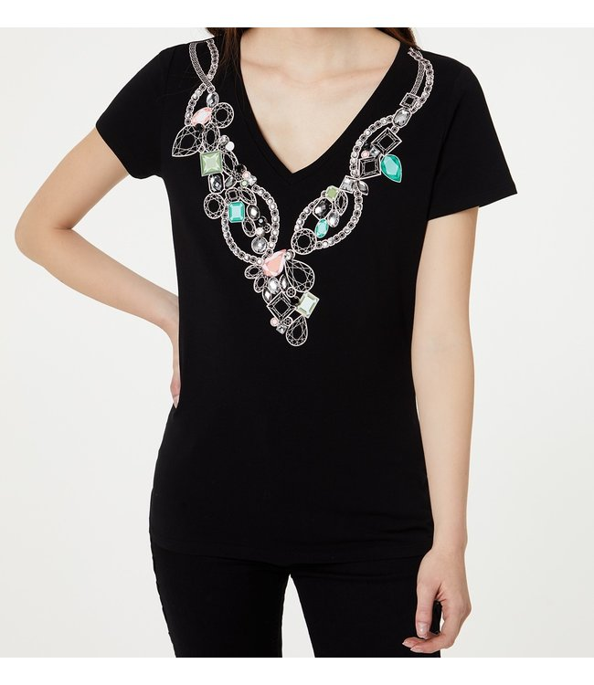 LiuJo LiuJo : T-shirt necklace-WA0372-Black