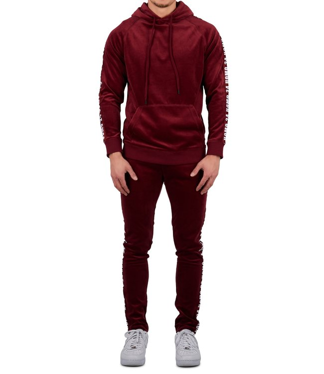 24uomo 24uomo : Velvet hoodie suit-Bur.