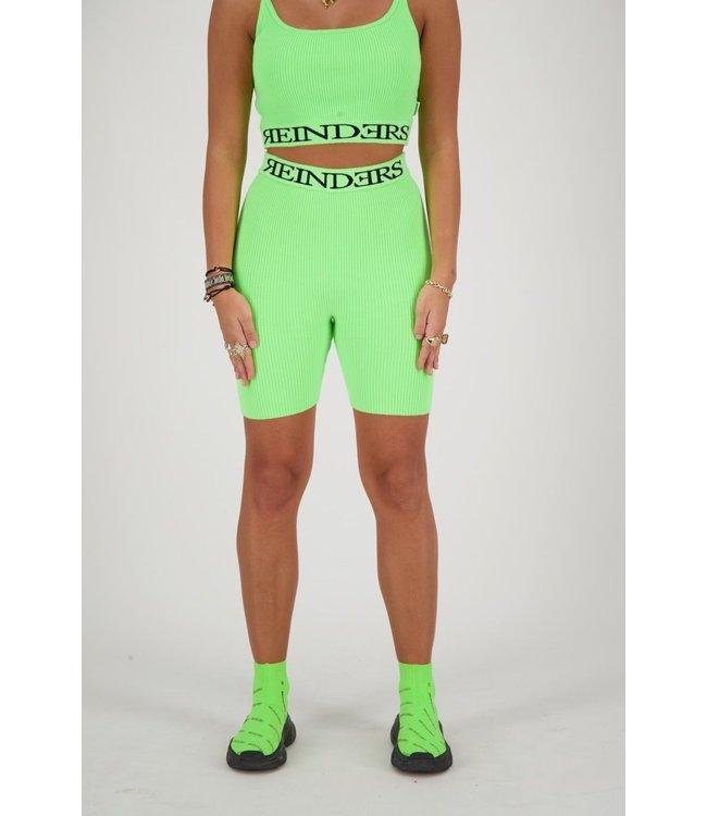 Reinders Reinders : Biker Entarsia Short Neon Green