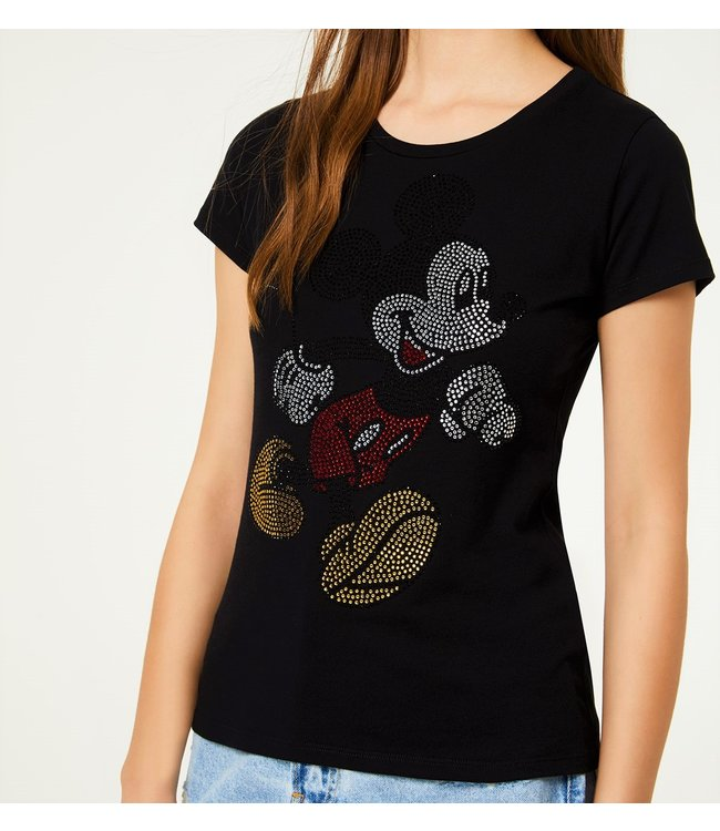 LiuJo LiuJo : T-shirt Mickey hotfix-Black