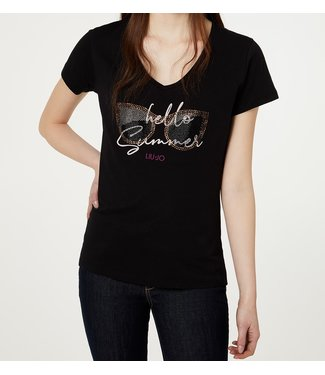LiuJo LiuJo : T-shirt Hello Sunshine-Black