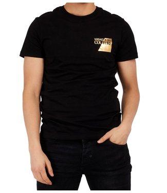 Versace Jeans couture Versace jeans : T-shirt Foil logo-Black