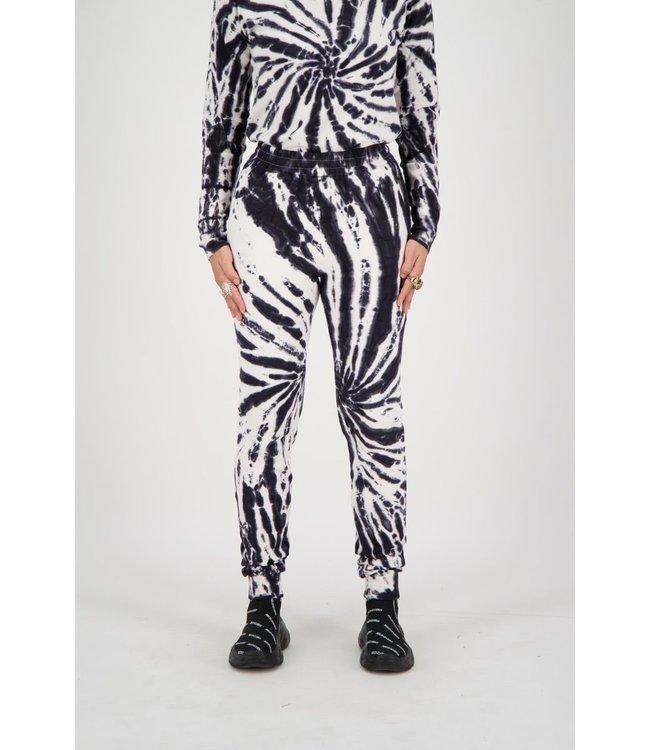 Reinders Reinders : Pants tie dye-Black White