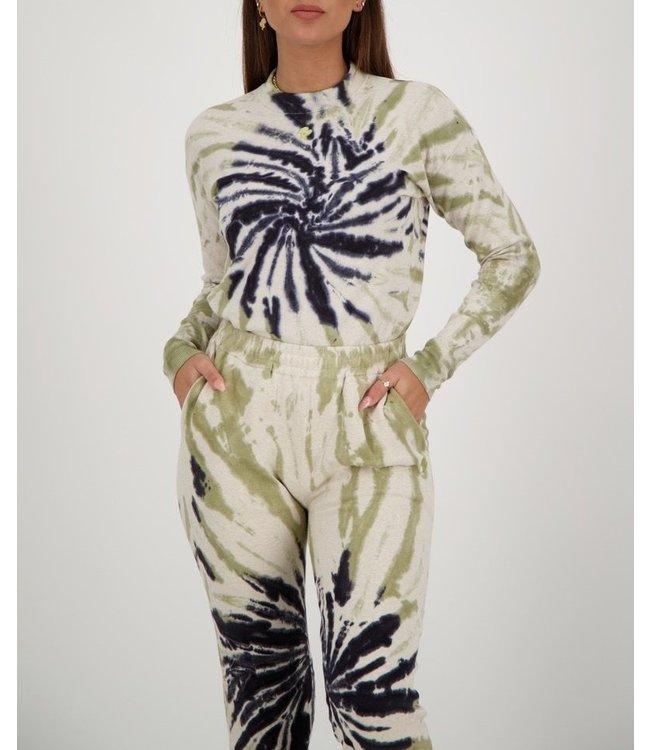 Reinders Reinders : Sweater tie dye-Sage