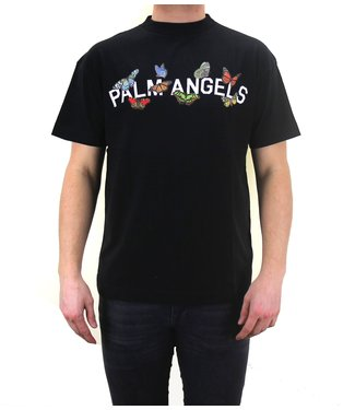 Palm Angels Palm Angels : Tee Butterfly college Logo Black