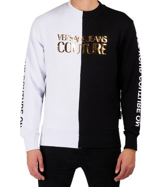 Versace Jeans couture Versace jeans : Sweater gold logo White/Black
