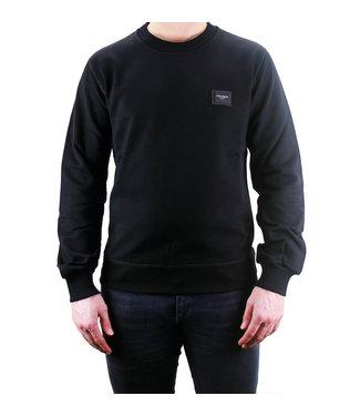 DOLCE & GABBANA D&G : Sweater logo Placca-Black-G9PD3T