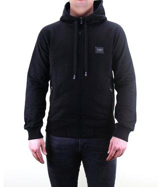 DOLCE & GABBANA D&G : Zip hoodie logo Placca-Black