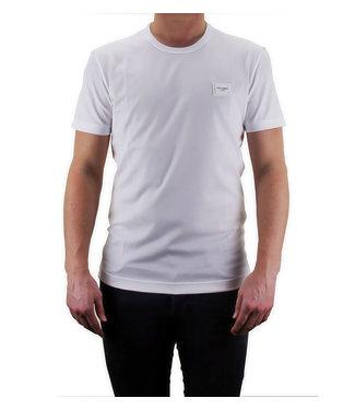 DOLCE & GABBANA D&G : T-shirt logo Placca-White