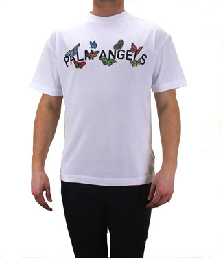 Palm Angels Palm Angels : Tee Butterfly college Logo White