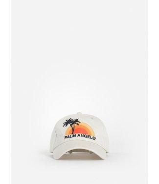 Palm Angels Palm Angels : Cap Sunset Logo-Ecru