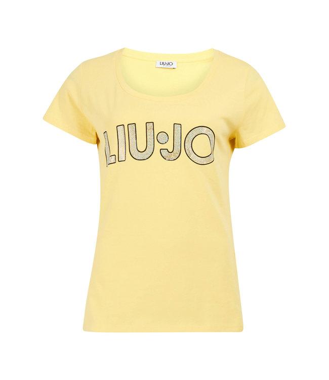 LiuJo LiuJo : T-shirt Logo-Yellow-FA0447