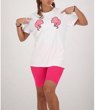Reinders Reinders : T-shirt Reinders-White Pink