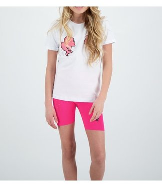 Reinders Reinders : Kids T-shirt White Pink Neon