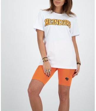 Reinders Reinders : T-shirt Wording-White Orange