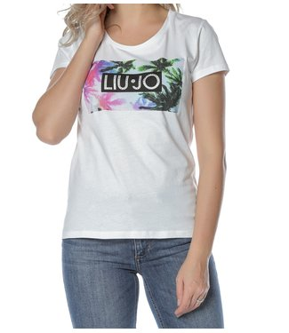 LiuJo LiuJo : T-shirt hermosa beach-White