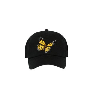 Palm Angels Palm Angels : Cap Butterfly Logo-Black