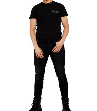 Versace Jeans couture Versace jeans : T-shirt Patch-Black