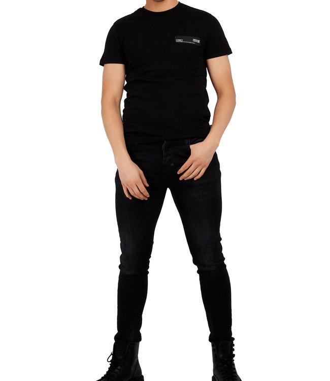 Versace Jeans couture Versace jeans : T-shirt Patch-Black