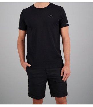 Airforce Airforce : T-shirt Basic outline star Black-TBM0741