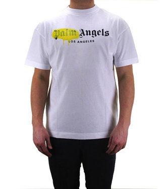 Palm Angels Palm Angels : Tee L A  sprayed Logo-White