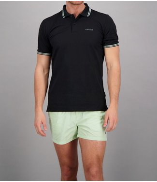 Airforce Airforce : Polo Double stripe Black